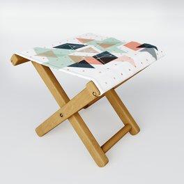Midcentury geometric abstract nr 011 Folding Stool