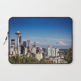 Seattle Overlook with Mt Rainier Laptop Sleeve