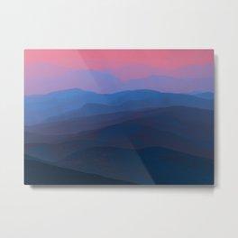 Surreal Mountainscape Metal Print