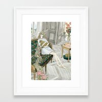 puppies Framed Art Prints featuring Two Puppies by Yuliya