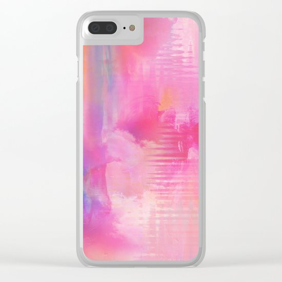 Abstract NC 03 Clear iPhone Case