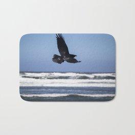 Raven In Flight Bath Mat