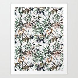 Asian crane pattern - 02 Art Print