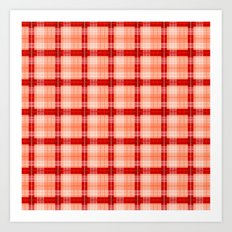 red scotch textile Art Print