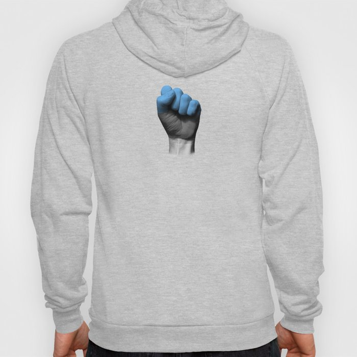 Estonian Flag on a Raised Clenched Fist Hoody