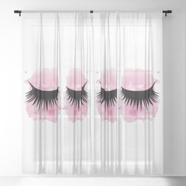 Eyes 3 Sheer Curtain