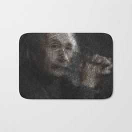 Albert Einstein, a String Art Portrait Bath Mat