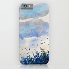 black birds, blue sky iPhone 6s Slim Case