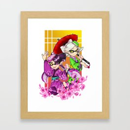 Squidsisters Framed Art Print