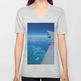 Flight over Bahamas Unisex V-Neck