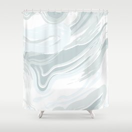 Blue Waves III Shower Curtain