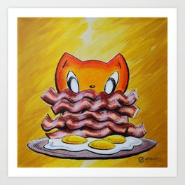 Skribbles: Because Bacon Art Print
