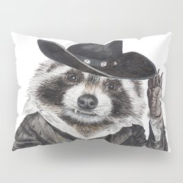""" Raccoon Bandit "" funny western raccoon Pillow Sham"