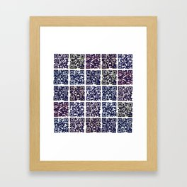 QR Codes to Playlists Framed Art Print