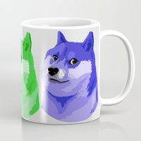 doge Mugs featuring Doge in every color by Rhodium Clothing