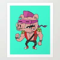 bebop Art Prints featuring Bebop TMNT by beeisforbear
