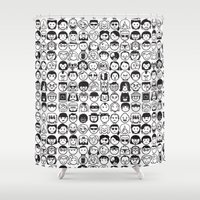 movies Shower Curtains featuring We love movies by Pinfloi