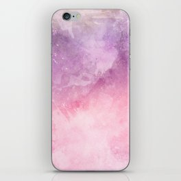 Pink Purple Watercolor Texture Art Print iPhone Skin