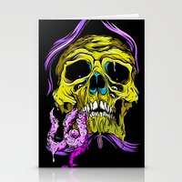 gore Stationery Cards featuring SKULL-GORE by scarecrowoven