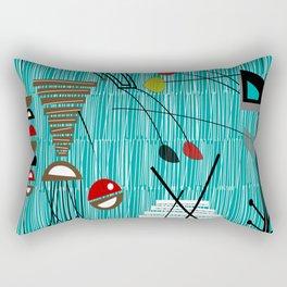 Mid-Century Tiki Tok Rectangular Pillow