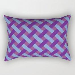 Purple And Blue Line Geometric Patterns Rectangular Pillow