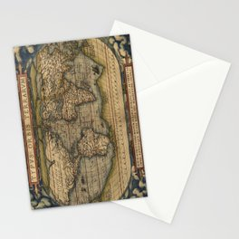 The world Ortelius Typus Orbis Terrarum 1564 Vintage World Stationery Cards