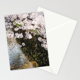 Delicate Cherry Blossoms In Japan Stationery Cards