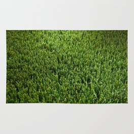 Abstract background artificial green grass Rug