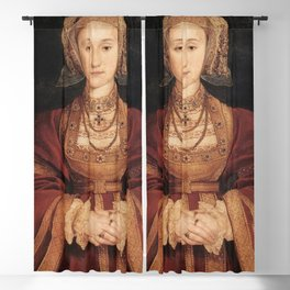 Hans Holbein the Younger - Betrothal portrait of Anne of Cleves Blackout Curtain