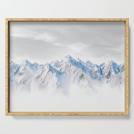 Snow Capped Mountains Serving Tray