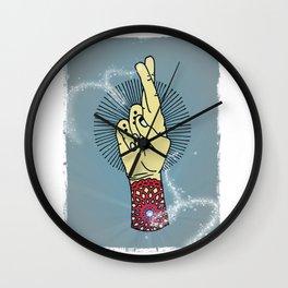 Fingers Crossed 2 Wall Clock