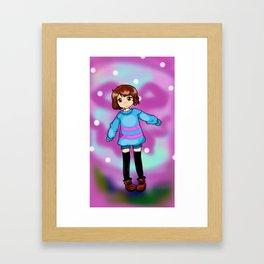 Chibi Frisk Framed Art Print