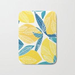 Lemon Tree / Abstract Fruit Art Bath Mat