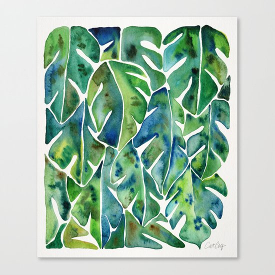 Split Leaf Philodendron – Green Canvas Print