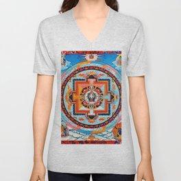 Hindu Buddhist Mandala 18 Unisex V-Neck