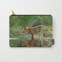 Fox Reflected in Pond Carry-All Pouch