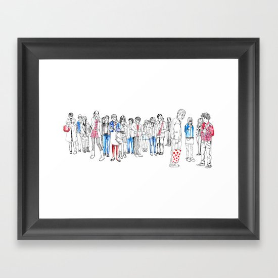 In Moments of Waiting Framed Art Print