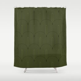 Art Deco Arch Pattern VIII Shower Curtain