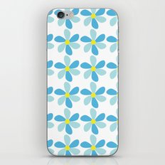 Blue Flower Pattern iPhone & iPod Skin
