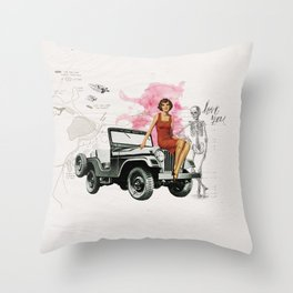 Bomshell Throw Pillow
