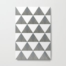 Cement White Triangles Metal Print