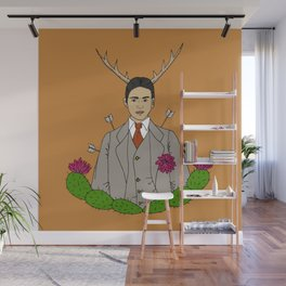 Frida Khalo Antlers and Arrows Wall Mural