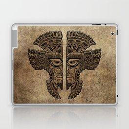Stone Aztec Twins Mask Illusion Laptop & iPad Skin