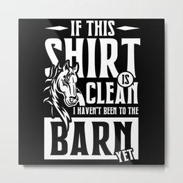 In the Barn yet Metal Print