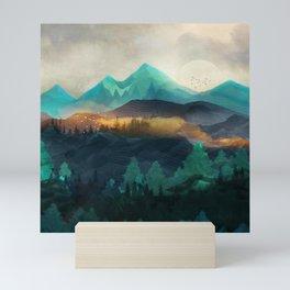 Green Wild Mountainside Mini Art Print