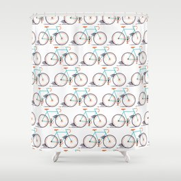 speed bike Shower Curtain