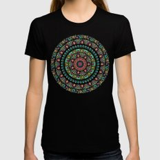 Sloth Yoga Medallion Womens Fitted Tee SMALL Black