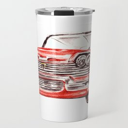 Watercolor Red Classic Car Travel Mug
