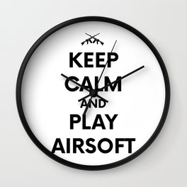 Keep Calm welts Airsoft Airsoft BBs Gift Wall Clock