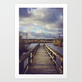 Dock to Nowhere Art Print